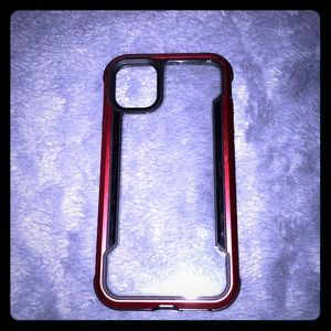 🍀3/$30Clear defense red IPhone 11 Pro phone case